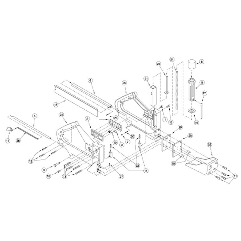 Porta Nails 501 Face Nailer Parts