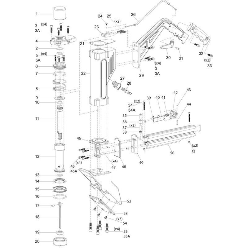 qep 470 16 ga floor nailer parts