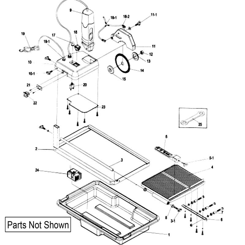 60007 qep tile saw repair parts