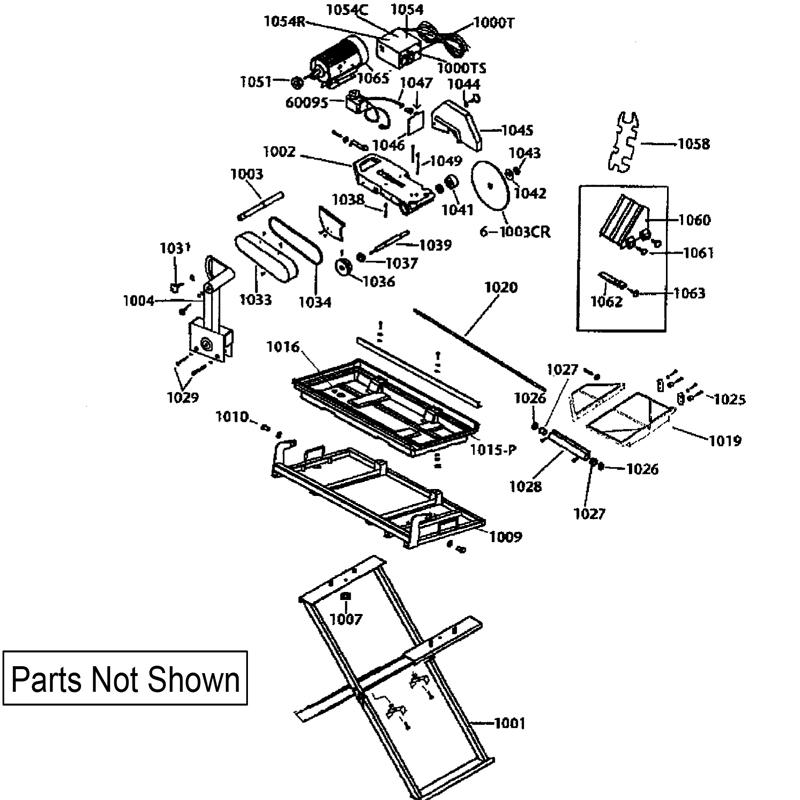60020 qep tile saw repair parts