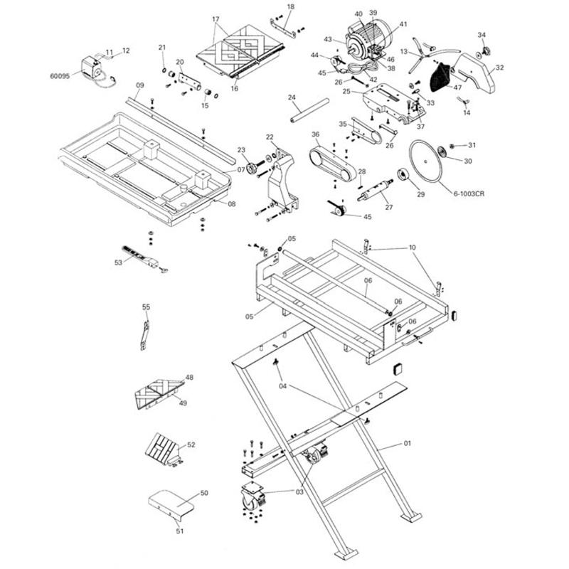 60024 qep tile saw repair parts